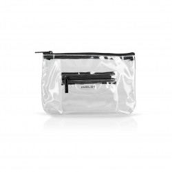 Сумка для косметики Transparent Cosmetic Bag Black (M)