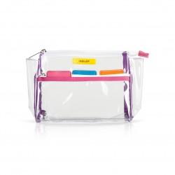 Сумка для косметики кольорова Transparent Cosmetic Bag Colour