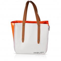 Сумка для покупок біло-оранжева Shopping Bag White & Orange