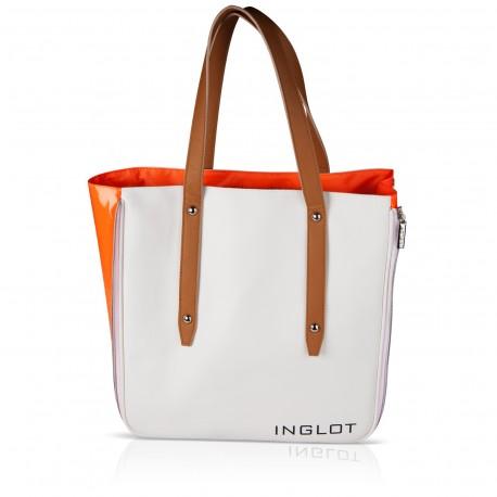 СУМКА ДЛЯ ПОКУПОК, БЕЛО-ОРАНЖЕВАЯ Shopping Bag White & Orange