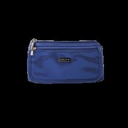 КОСМЕТИЧКА Cosmetic Bag Blue & Silver (R23676B)